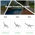 Aluminum Frame Adjustable Outdoor Foldable Reclining Padded Chair