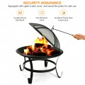 2 Inch Steel Outdoor Fire Pit Bowl With Wood Grate