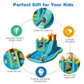 Inflatable Water Slide Kids Bounce House Splash Water Pool with Blower