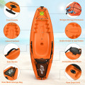 6ft Youth Kids Kayak with Bonus Paddle and Folding Backrest for Kid Over 5