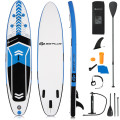 10.5 Feet Inflatable Stand Up Paddle Board with Carrying Bag and Aluminum Paddle