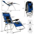 Oversize Folding Adjustable Padded Zero Gravity Lounge Chair