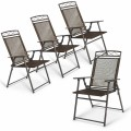 Set of 4 Outdoor Folding Sling Chairs