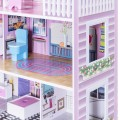 28 Inch Pink Dollhouse with Furniture