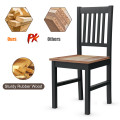 Set of 4 Dining Chair Spindle Back Wooden Legs