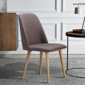 Set of 2 Leisure Accent Armless Upholstered Dining Chairs