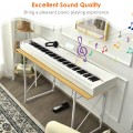 88-Key Full Size Digital Piano Weighted Keyboard with Sustain Pedal