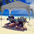 10' x 10' Outdoor Pop-up Camping Canopy Tent with Roller Bag