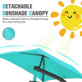 Patio Hanging Hammock Chaise Lounge Chair with Canopy Cushion
