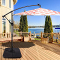 """20"""" Patio Offset Water Filled Plate Umbrella Base Sand"""