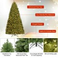 6' / 7' / 8' Artificial PVC Christmas Tree with LED Lights and Stand