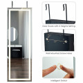 Door Wall Mount Touch Screen Mirrored Jewelry Cabinet