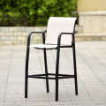 4 PCS Counter Height Stool Patio Chair