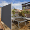 """118.5"""" x 63"""" Patio Retractable Folding Side Awning Screen Privacy Divider"""
