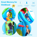 Inflatable Crocodile Water Slide Climbing Wall Bounce House with 780W Blower