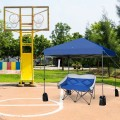 8 x 8 Feet Outdoor Pop up Canopy Tent with Roller Bag and Sand Bags