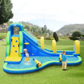 Inflatable Water Slide Kids Bounce House with Water Cannons and Hose without Blower