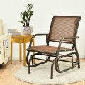 Outdoor Single Swing Glider Rocking Chair with Armrest