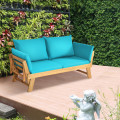 Adjustable Patio Convertible Sofa with Thick Cushion