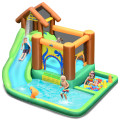 Inflatable Waterslide Bounce House Climbing Wall Ball Pit with Blower