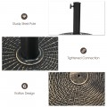 22Lbs Patio Resin Umbrella Base with Wicker Style for Outdoor Use