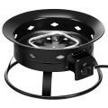 58,000BTU Firebowl Outdoor Portable Propane Gas Fire Pit with Cover and Carry Kit