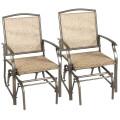 2 pcs Patio Swing Single Glider Chair Rocking Seating