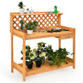 Garden Wood Work Potting Bench Station with Hook