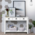 """47"""" Entryway Hall Table Side Desk Accent Table with Drawers Shelf"""