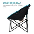 Moon Saucer Steel Camping Chair Folding Padded Seat