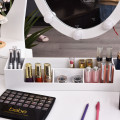 10 Dimmable Lights Vanity Table Set with Lighted Mirror and Cushioned Stool