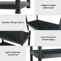 5-Tier Storage Shelving Freestanding Heavy Duty Rack in Small Space or Room Corner