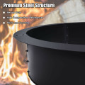 36 inch Round Steel Fire Pit Ring Liner for Outdoor Backyard