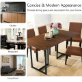 Metal Frame Wood Top Console Dining Table Rectangular Kitchen Table