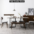 6 Person Industrial Rectangular Dining Table