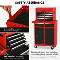 2-in-1 Tool Chest and Cabinet with 5 Sliding Drawers