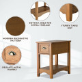 Contemporary Chair Side End Table Compact Table with Drawer Nightstand