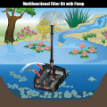 All-in One 660 GPH Pond Filter 9W UV Sterilizer with Pump Fountain Kits