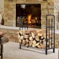 4' Outdoor Heavy Duty Steel Firewood Wood Storage Rack