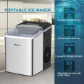26 lbs/24 H Self-Clean Stainless Steel Ice Maker
