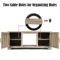 Media Component TV Stand with Adjustable Shelves