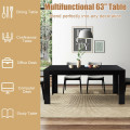 """63"""" Rectangular Modern Dining  Kitchen Table for 6 People"""