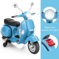 6V Kids Ride on Vespa Scooter Motorcycle with Headlight