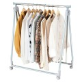 Extendable Foldable Heavy Duty Clothing Rack with Hanging Rod