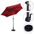 9' Patio LED Solar Umbrella with Crank