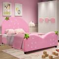 Kids Children Upholstered Berry Pattern Toddler Bed