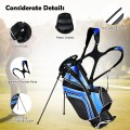 Golf Stand Cart Bag with 6-Way Divider Carry Pockets