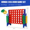 Jumbo 4-to-Score Giant Game Set with 42 Jumbo Rings & Quick-Release Slider