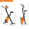 Folding Magnetic Upright Exercise Indoor Cycling Stationary Bike for Gym Cardio