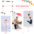4 Ft Portable Freestanding Stable Construction Pilates Ballet Barre with Double Dance Bar